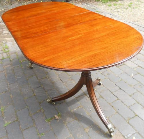 Small Solid Mahogany Extending Dining Table to Seat Eight